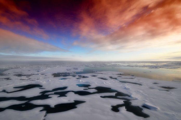 Zusammenhang von Permafrost und arktischen Meereis